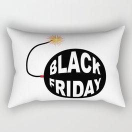 Black Friday Bomb And Lit Fuse Rectangular Pillow