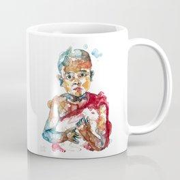Monk with rabbit Coffee Mug