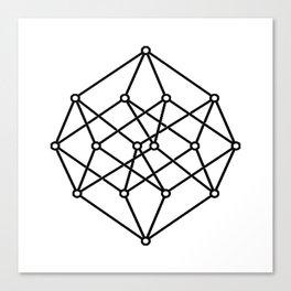 black line, prism art , wallpaper , case for iphone Canvas Print