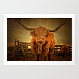 Chewing the Cud Art Print