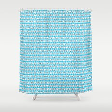 loza (light blue) Shower Curtain