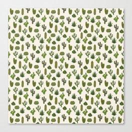 Cacti parade Canvas Print