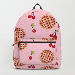 Pies trendy food fight apparel and gifts pink Backpack