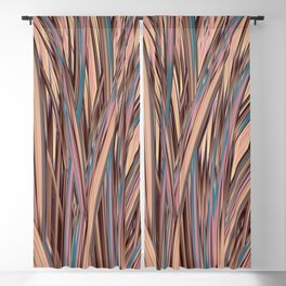 LYON pink peach turquoise brown glowing tall grass Blackout Curtain