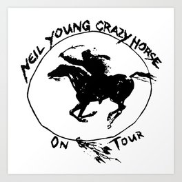 neil young crazy horse on tour nitrogen Art Print
