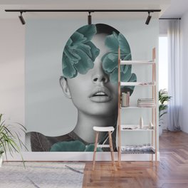 Floral Portrait (woman) Wall Mural