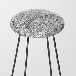 Paris Map Line Counter Stool