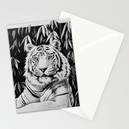 Endangered White Tiger Stationery Cards