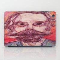 grateful dead iPad Cases featuring Bob Weir Watercolor Portrait Grateful Dead by Acorn