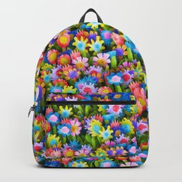 Flowers. Children's drawings Backpack