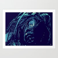 cyberpunk Art Prints featuring CyberPunk by Giuseppe Cristiano