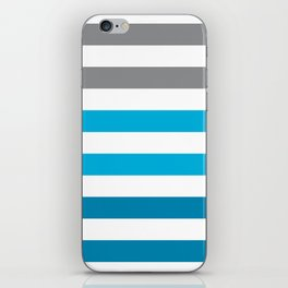 Stripes Gradient - Blue iPhone Skin