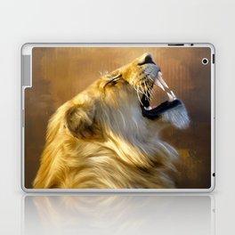 Roaring lion portrait Laptop & iPad Skin