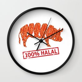 Halal Bacon - Islamophobia Wall Clock