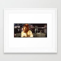 mia wallace Framed Art Prints featuring Mia Wallace by Rabassa