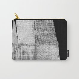 White & Grey Carry-All Pouch