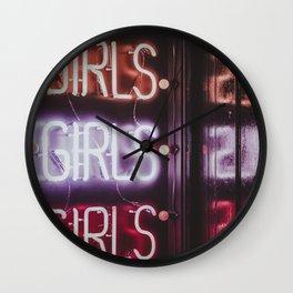 GIRLS NEON Wall Clock