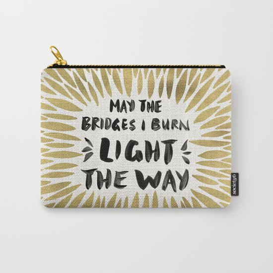 Bridges Burned – Gold Carry-All Pouch