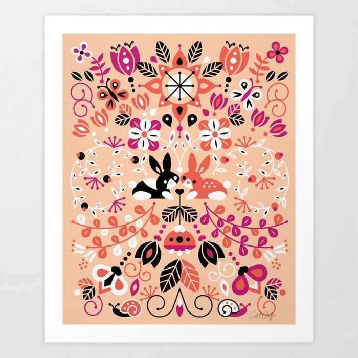Bunny Lovers Art Print