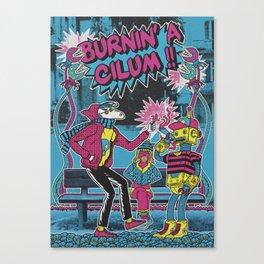 Burnin' a cilum Canvas Print