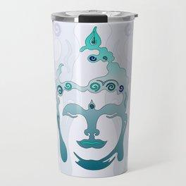 Buddha Head turquoise I Travel Mug