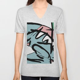Abstract Painting Design - Flight Unisex V-Neck