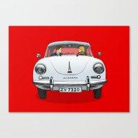 porsche Canvas Prints featuring Porsche by Michael Constantine