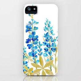 BLUE LUPINE WILDFLOWER MEADOW iPhone Case