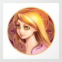 rapunzel Art Prints featuring Rapunzel by Vincent Vernacatola