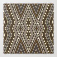 Geometric Rustic Glamour Canvas Print