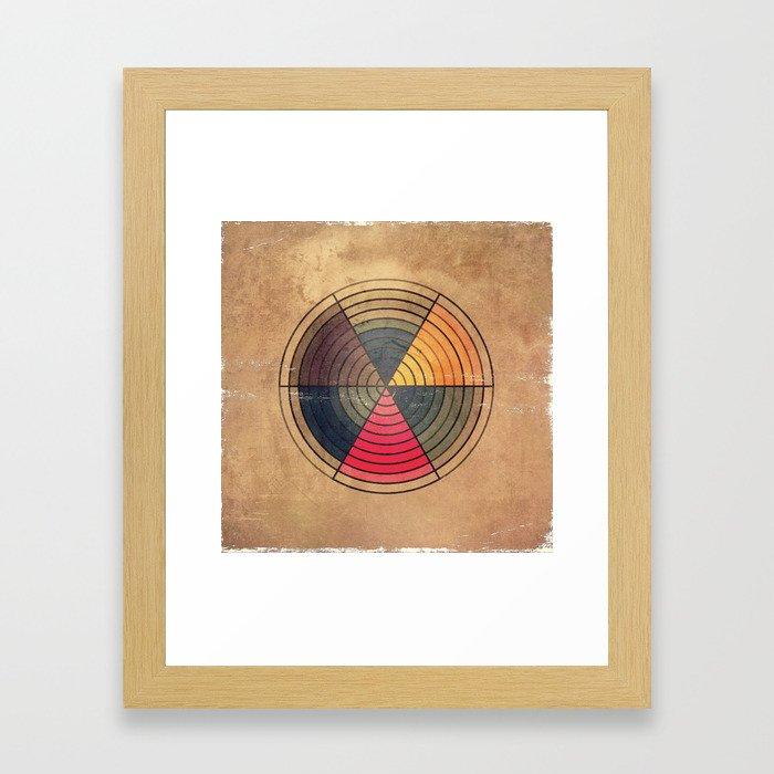 Circles C6 Framed Art Print