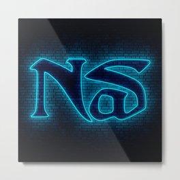 Nas Neon Metal Print