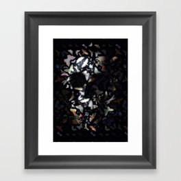 Butterfly And Skull Framed Art Print