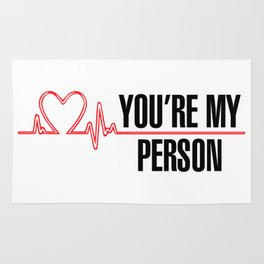 "Grey's Anatomy - ""You're My Person"" Rug"