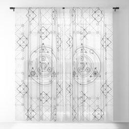 Sacred geometry and geometric alchemy design Sheer Curtain