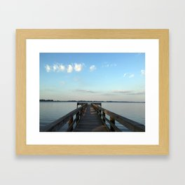 Saturday on the River Framed Art Print