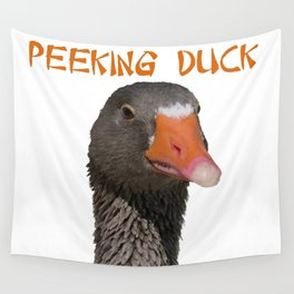 Peeking Duck Homonym Wall Tapestry