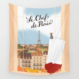 """""""Le Chef de Paris - Ratatouille"""" by Lyman Creative Co. Wall Tapestry"""