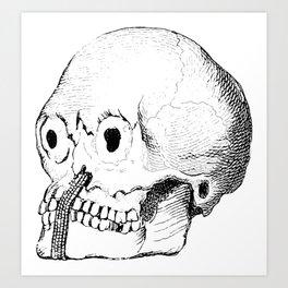 Weird Skull Art Print