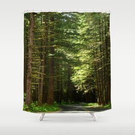 On A Road To The Rainforest Shower Curtain