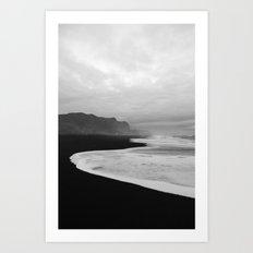 Black Sand Beach of Vik Iceland Art Print