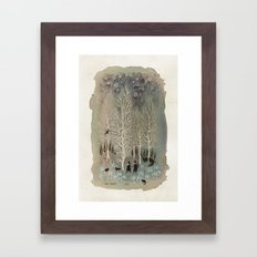 White Woods Framed Art Print