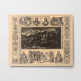 Iconographic Encyclopedia of Science, Literature and Art (1851) - Italian Renaissance Painting 3 Metal Print