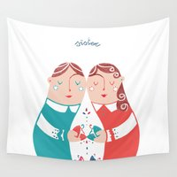 sister Wall Tapestries featuring Sister by Michela Gaburro