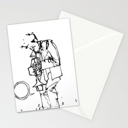 the trumpeter Stationery Cards