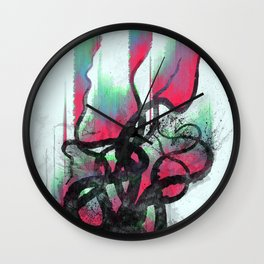 aurora in the water Wall Clock