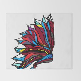 Native American Head-dress Throw Blanket