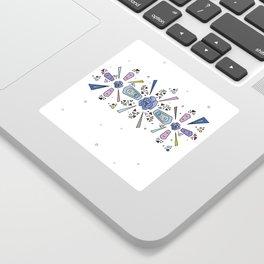 geometric flower crown Sticker