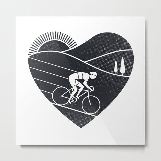 Love Cycling Metal Print