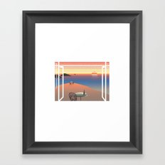 WINDOWS 003: THE COAST Framed Art Print